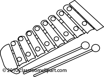 Xylophone clipart black and white. Panda free
