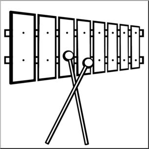 B w i abcteach. Xylophone clipart clip art