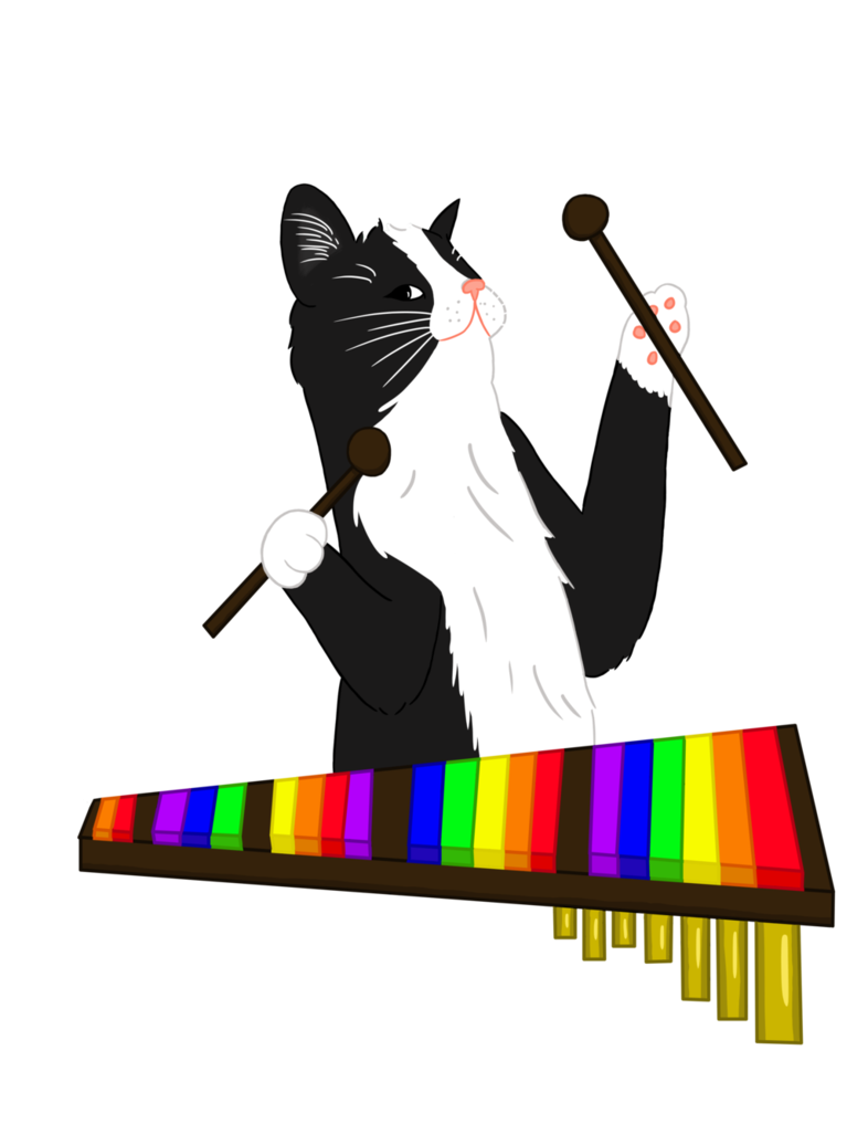 Cat by penguinfreaksh on. Xylophone clipart colorful
