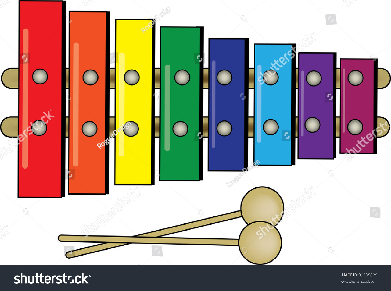 clipartlook. Xylophone clipart colorful