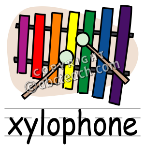 X free clip art. Xylophone clipart cute