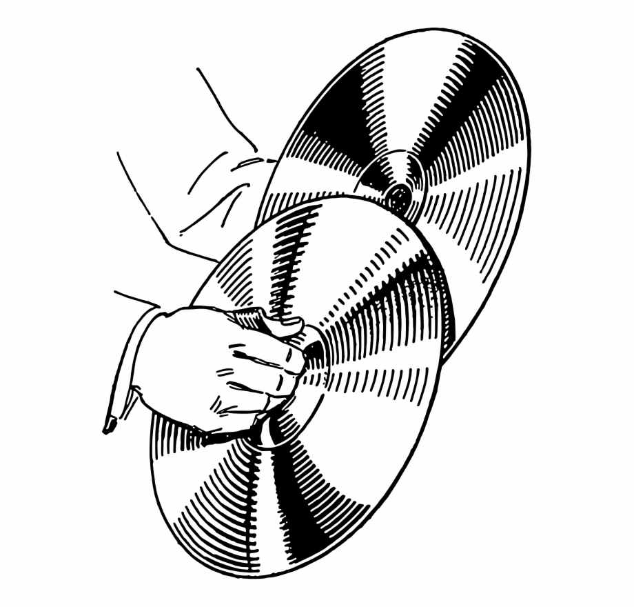 Xylophone clipart cymbal. Drawing cymbals black and