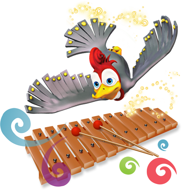 Xylophone clipart cymbal. The tuneables bill bird