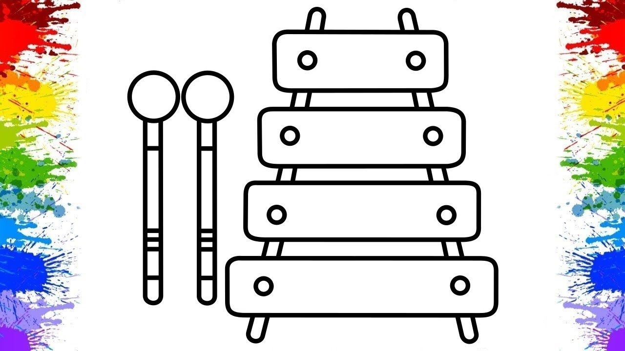 Xylophone clipart draw. How to musical instruments