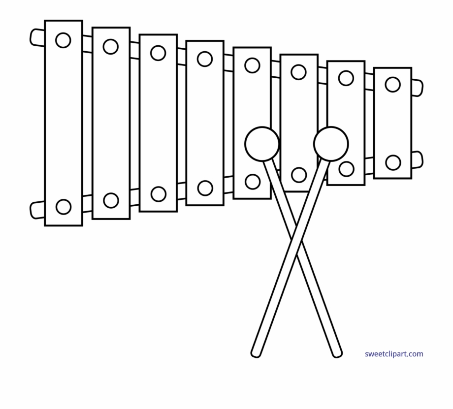 Tree outline free png. Xylophone clipart glockenspiel