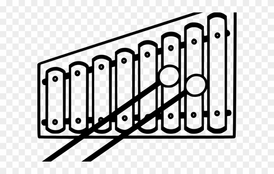 Band instrument tree . Xylophone clipart intrument