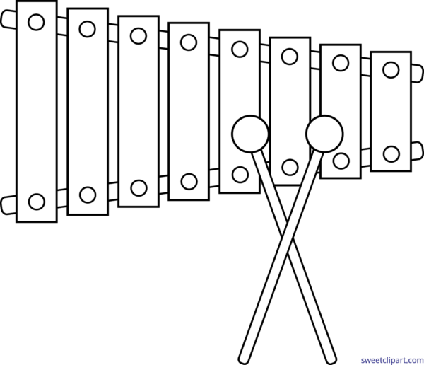 Xylophone clipart larawan.  collection of black