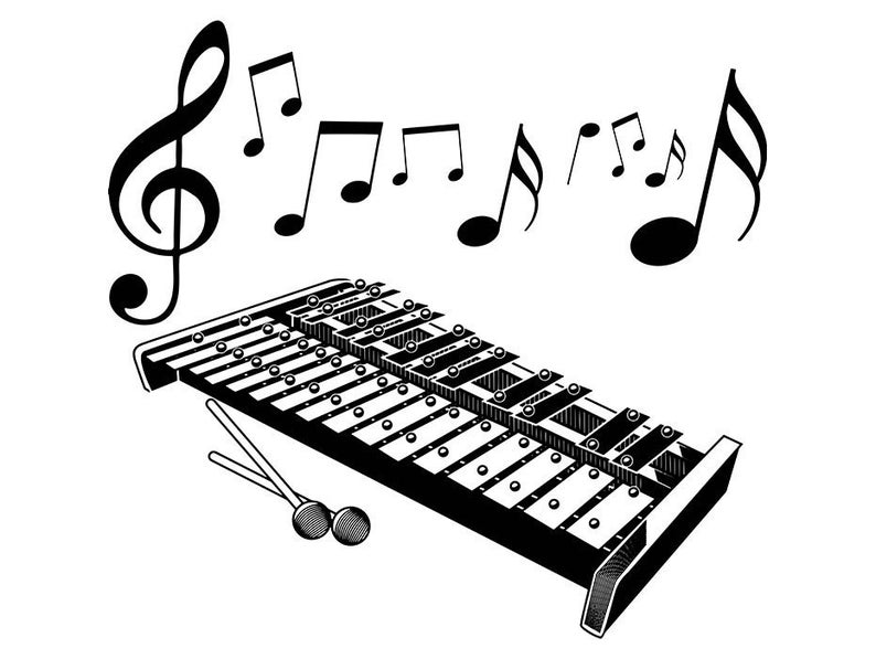 Xylophone clipart music instrument. Marimba percussion mallet wood