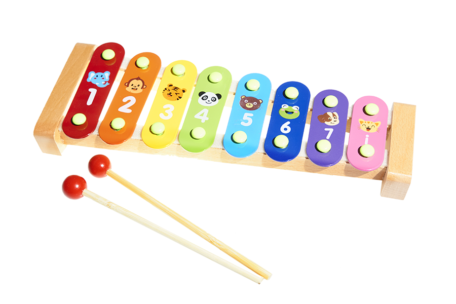 Musical toys wholesale animals. Xylophone clipart music toy