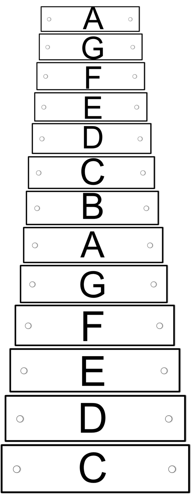 Visual aids technologi information. Xylophone clipart orff