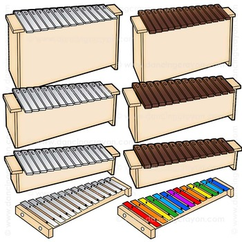 Instruments musical clip art. Xylophone clipart orff