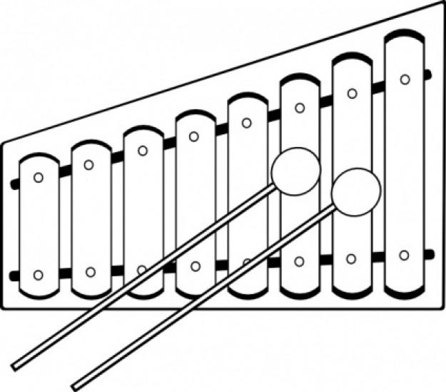 Xylophone clipart outline. Free wooden cliparts download