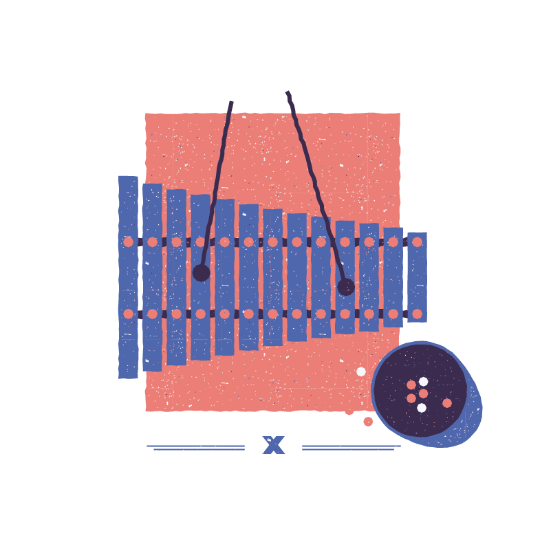 Xylophone clipart sounds. Illustration of the city