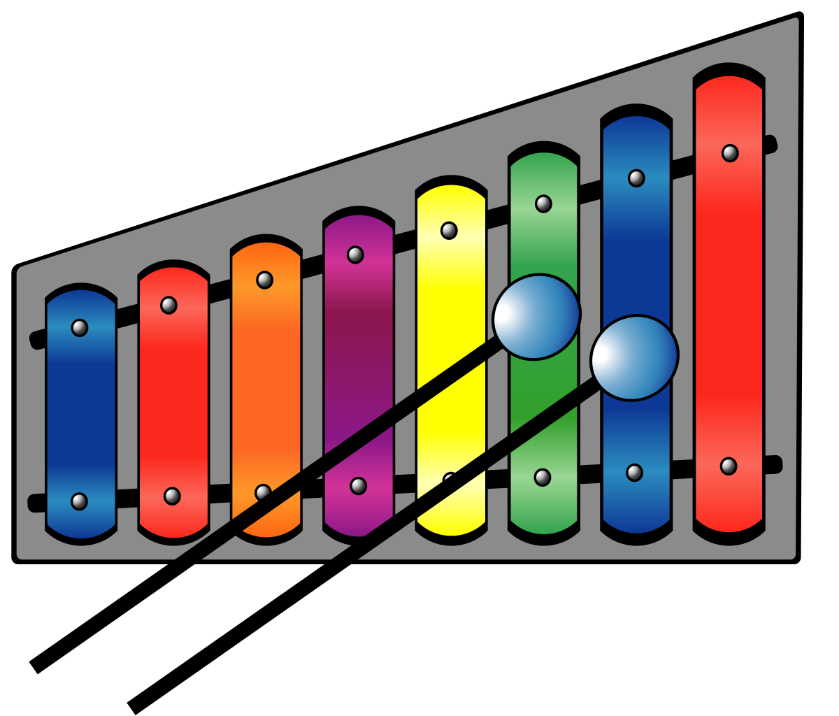 Xylophone clipart tool. File colourful svg wikimedia