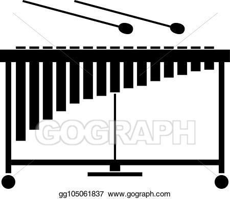 Xylophone clipart vibraphone. Vector art drawing gg
