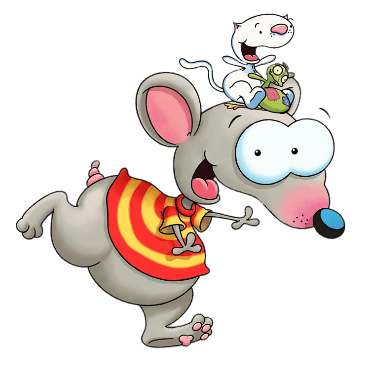 Binoo and patch on. Xylophone clipart white background