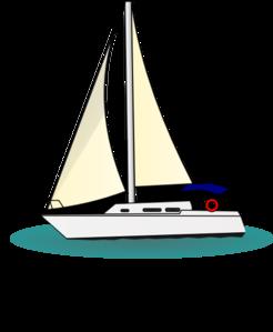 Clip art at clker. Yacht clipart