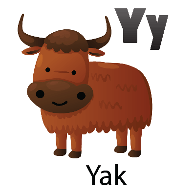 Yak clipart. Animal alphabet y for