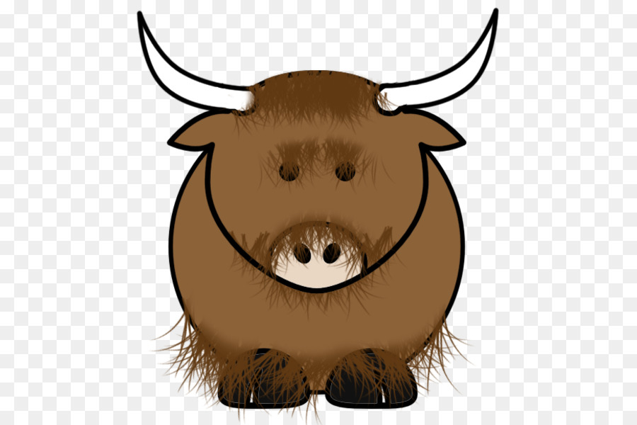 Domestic royalty free clip. Yak clipart