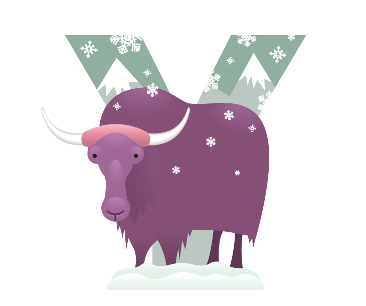 Yak clipart alphabet animal. Other recent projects