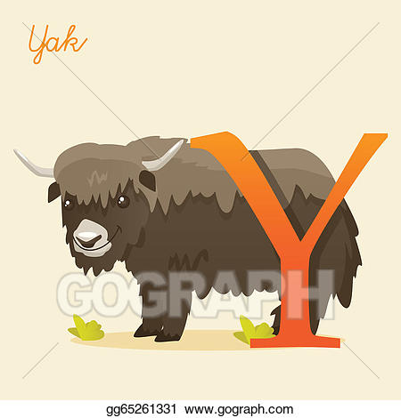 Yak clipart alphabet animal. Drawing with