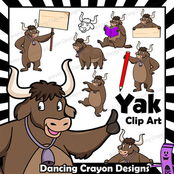 Clip art with signs. Yak clipart alphabet animal