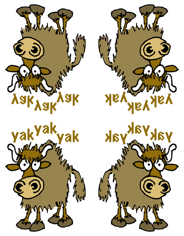 Yak clipart alphabet animal. Cartoon fabric graphicdoodles spoonflower