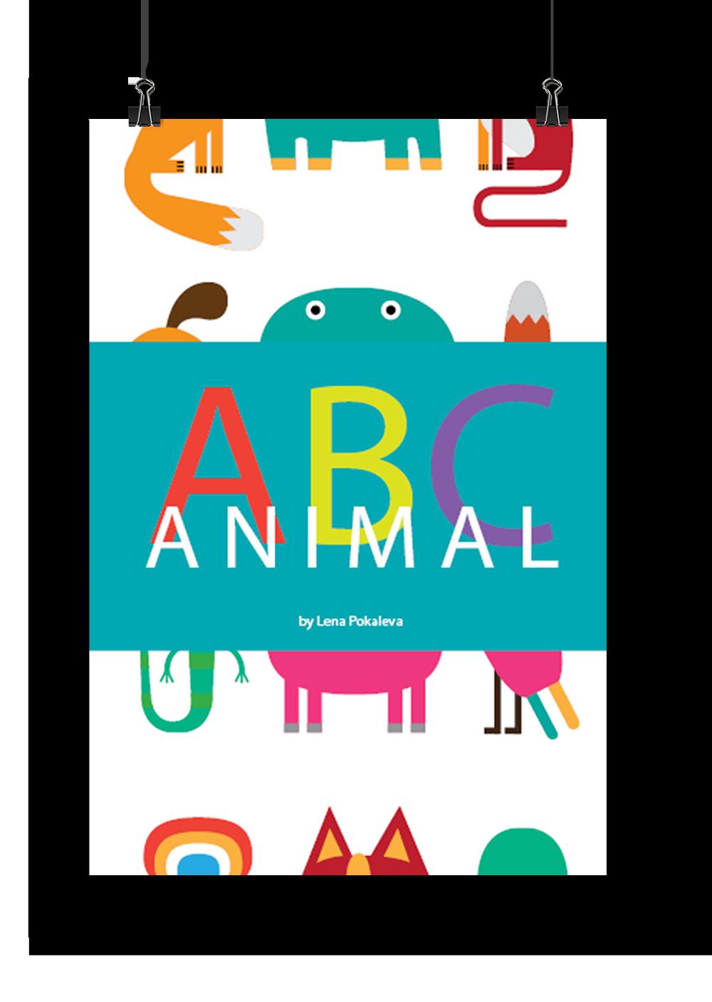 Yak clipart alphabet animal. Abc book on behance