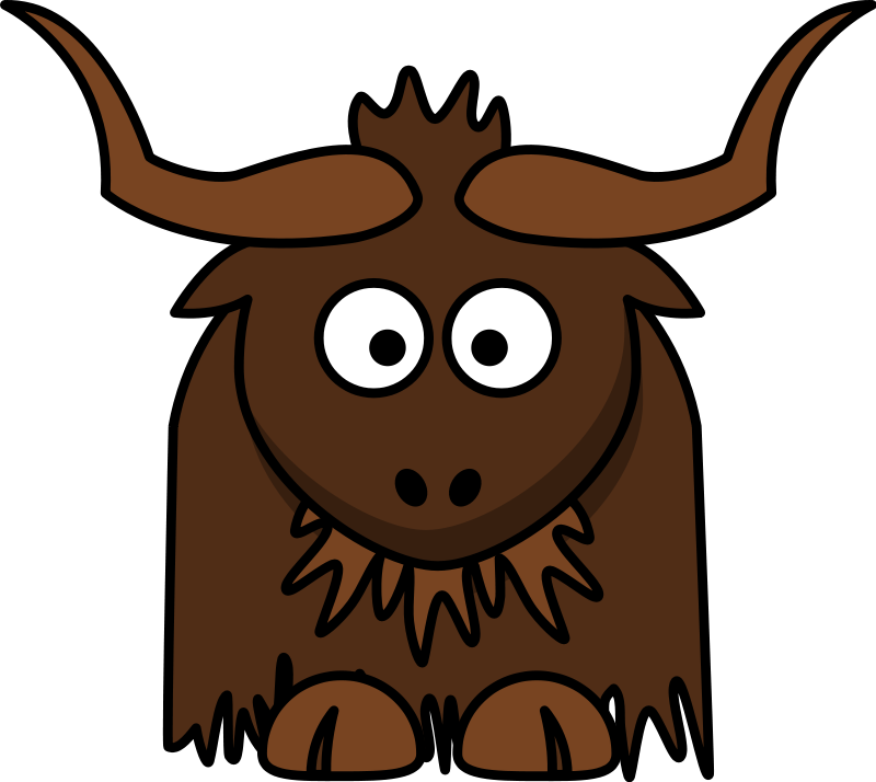 collection of cute. Yak clipart baby