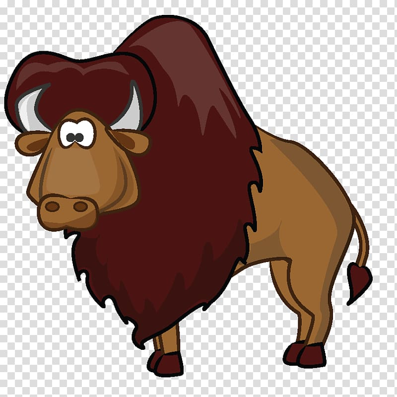 American cartoon buffalo transparent. Yak clipart bison