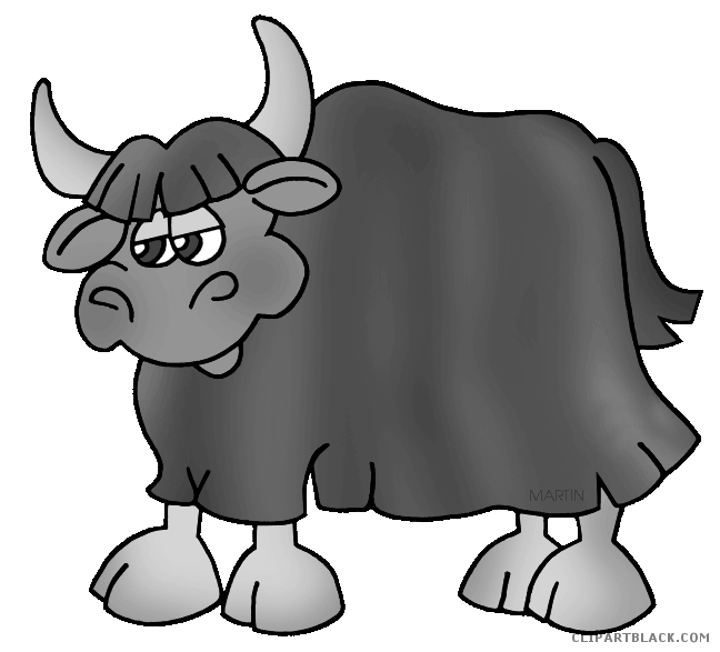 Animal free images clipartblack. Yak clipart black and white