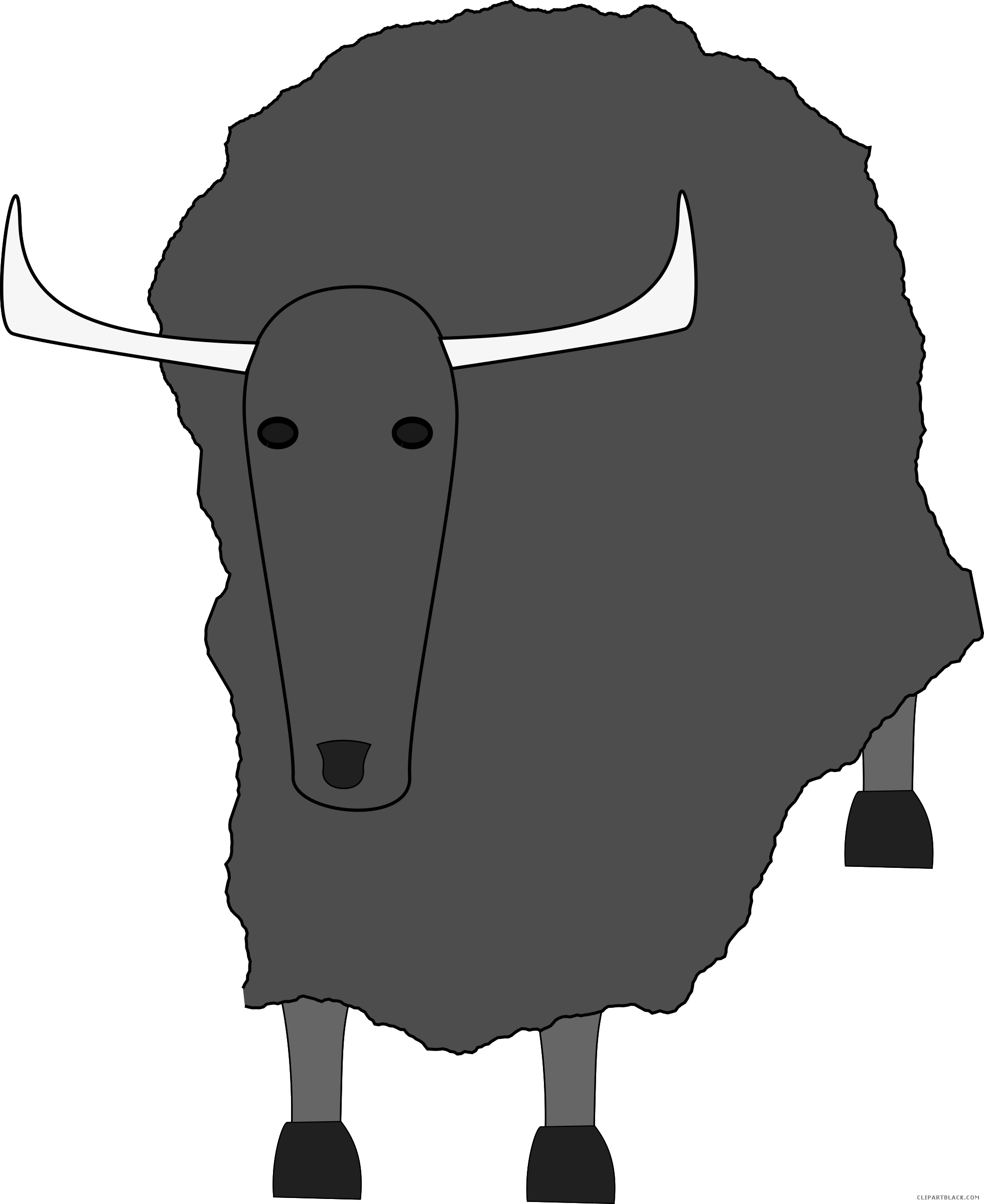 Yak clipart black and white. Page of clipartblack com