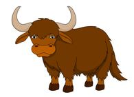 Yak clipart brown. Free download best on