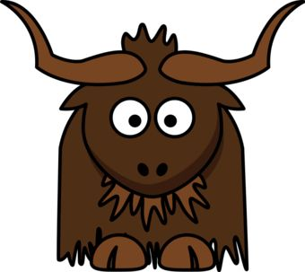 Yak clipart brown. Cartoon google search alphabet