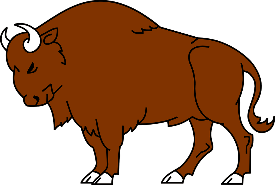 Yak clipart cartoon. Cute bison clipground free