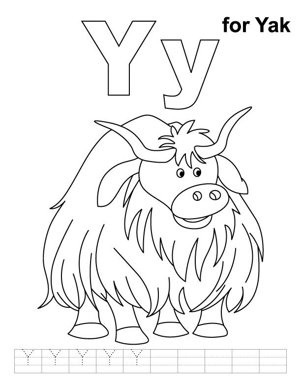 Free pages download clip. Yak clipart coloring page