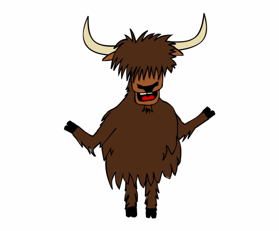 Yak clipart horns. Domestic borders and frames