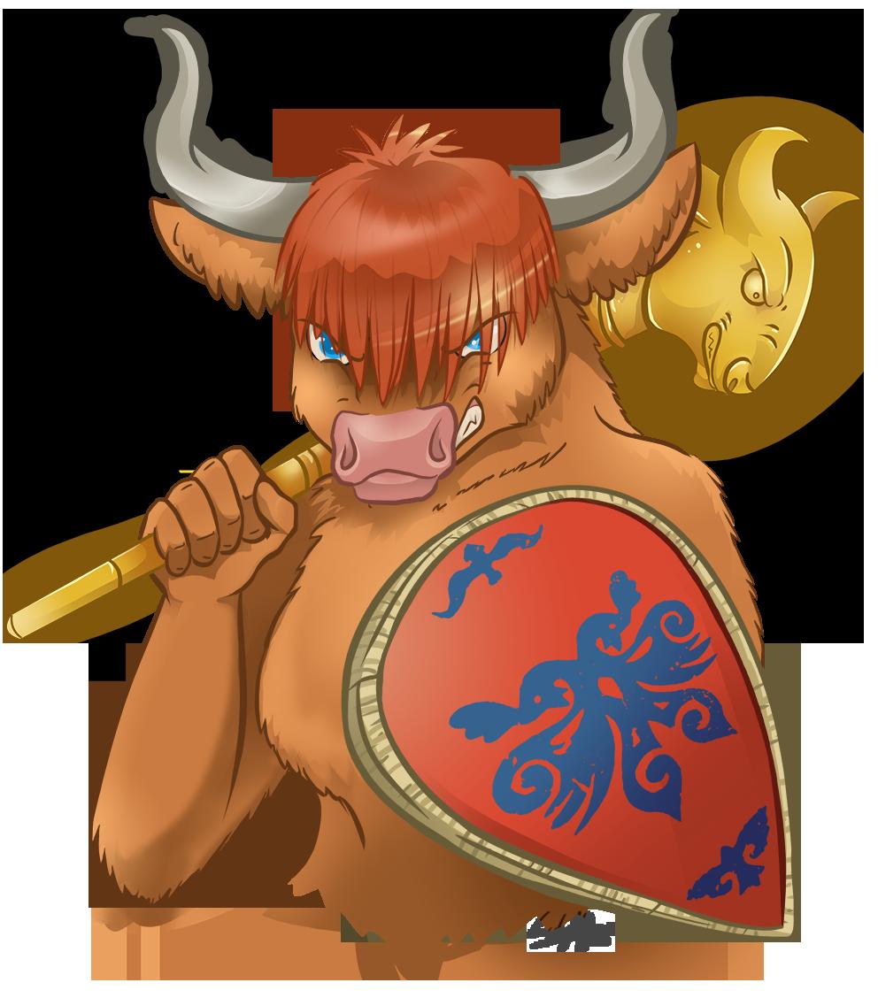 Yak clipart orange. Highland cow warrior com