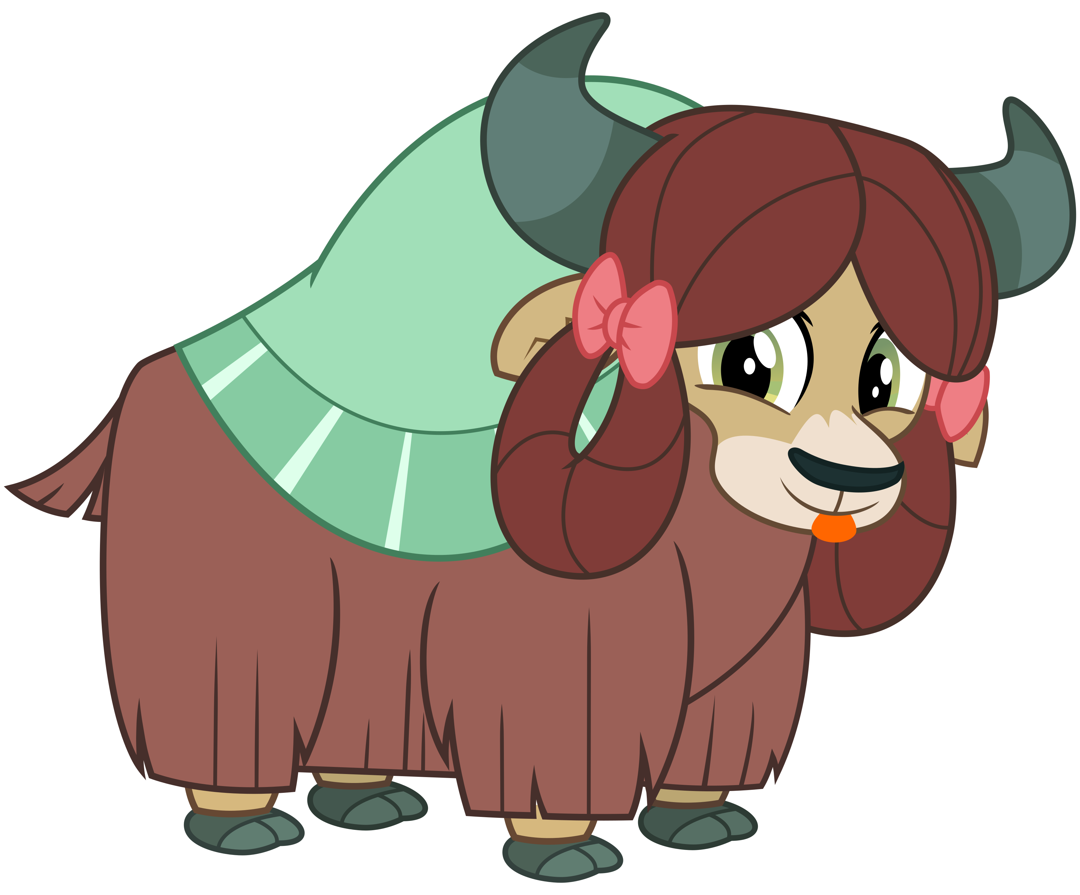 Yak clipart transparent. Yona the by cheezedoodle
