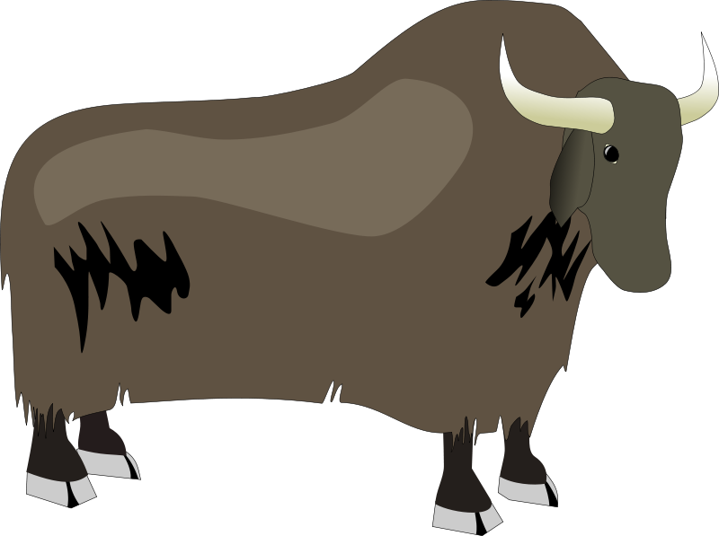 collection of cute. Yak clipart tree