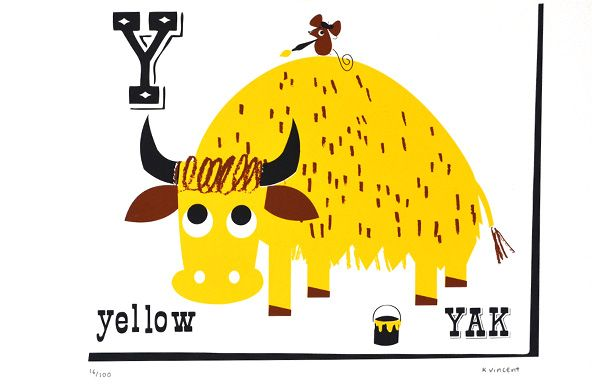 Kay vincent animals cats. Yak clipart yellow