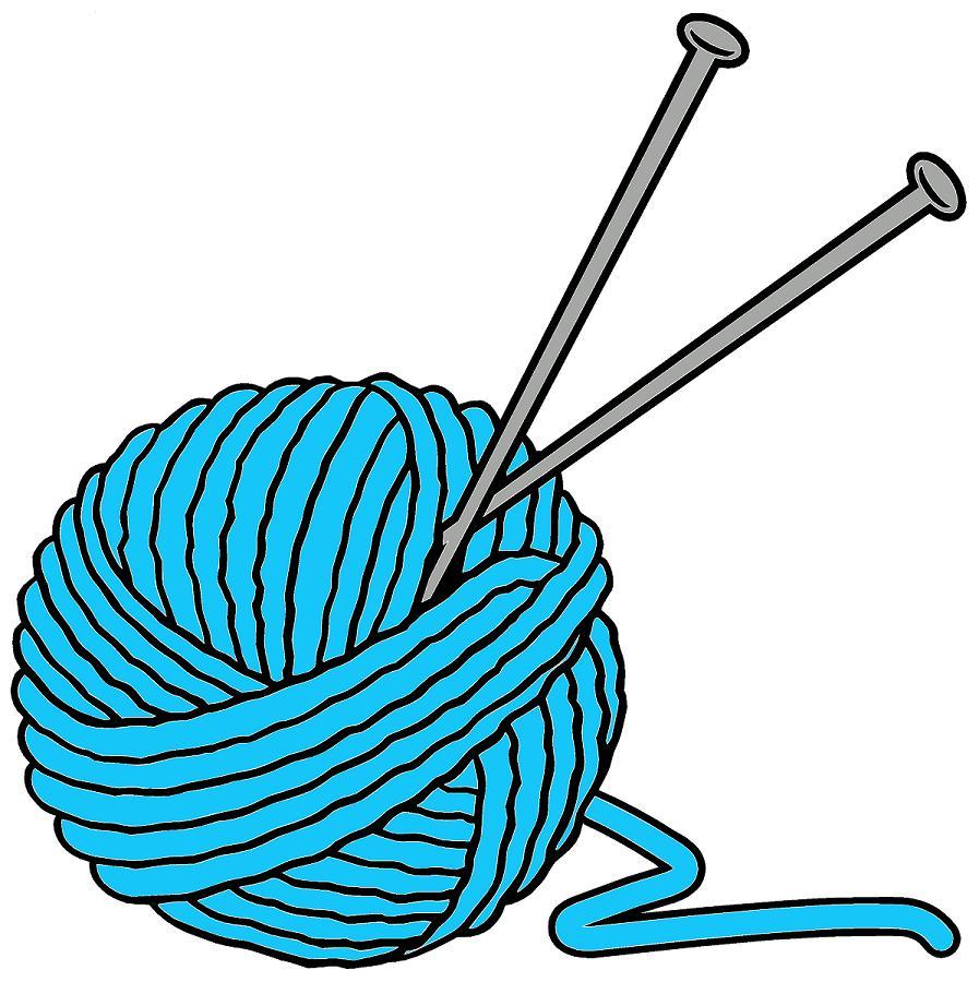 Crochet clipart blue yarn.