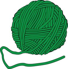 Yarn clipart. Vector crochet icons stock