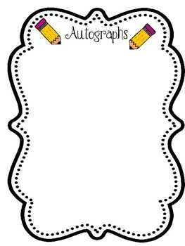 Yearbook clipart autograph. Autographs