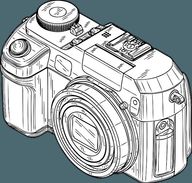 Yearbook clipart camera nikon. Dslr drawing at getdrawings