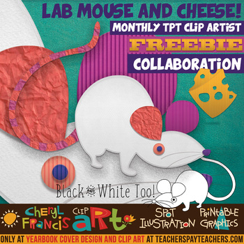 Science lab mouse with. Yearbook clipart cheese