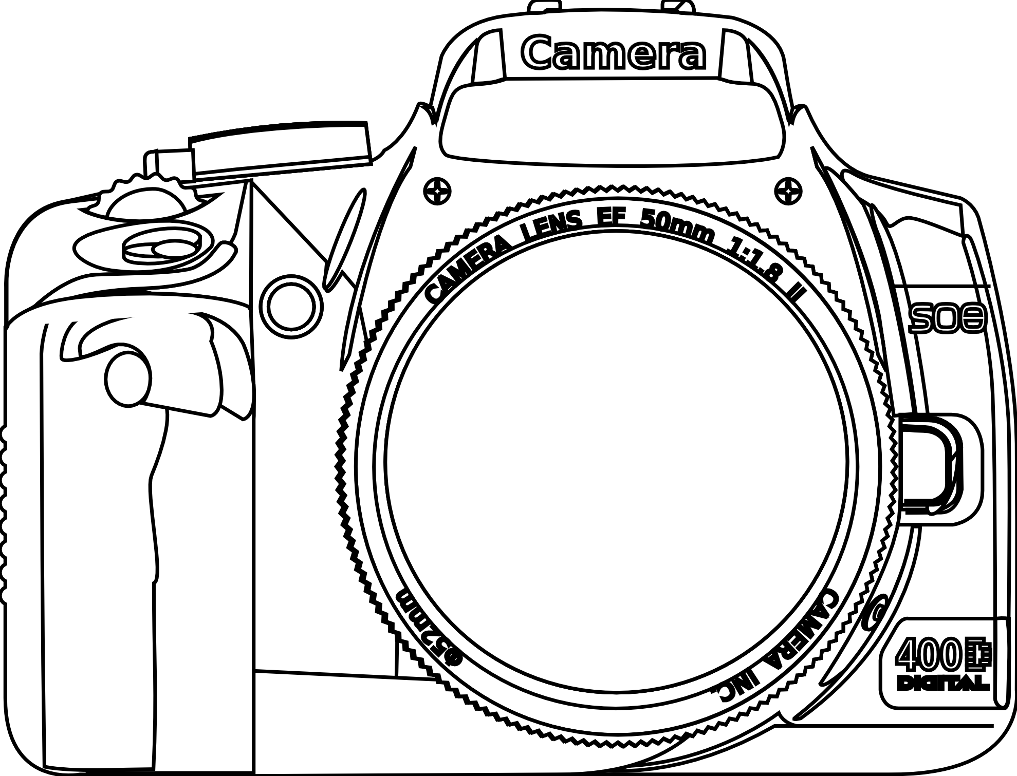 Image result for dslr. Yearbook clipart digital camera
