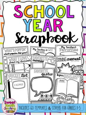 End of year scrapbook. Yearbook clipart making memory