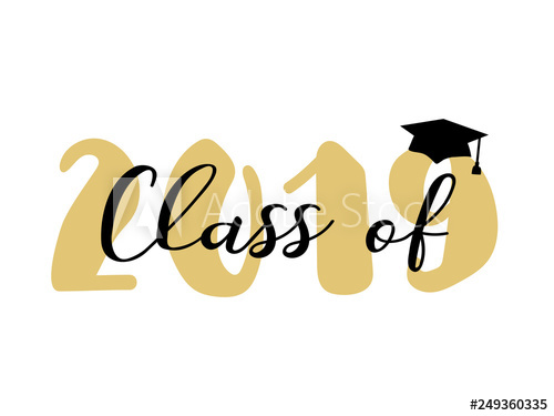 Class of modern calligraphy. Yearbook clipart promotion ceremony