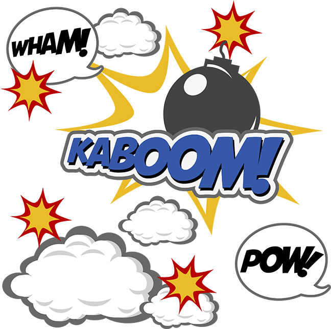 Yearbook clipart scrapbook themed. Kaboom svg boy files